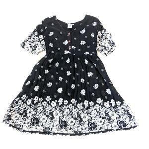 Flirty Floral Boho Button Up Summer Dress